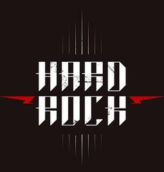 Hard Rock badge - original lettering with vector image