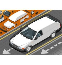 Isometric White Station Wagon Car vector image
