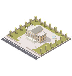 museum isometric in city vector image
