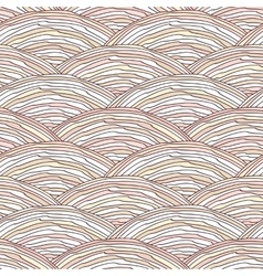 Seamless pattern with hand drawn wavy texture vector image