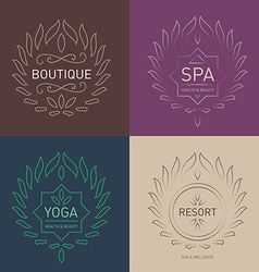Set of Floral logos template for Beauty salon Spa vector image