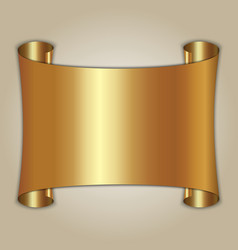 Abstract golden plate on beige background vector