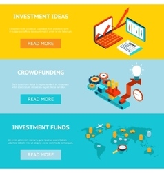 Business banners Crowdfunding investment ideas vector image vector image