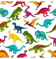 Cartoon dinosaurs children seamless pattern vector image