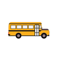 city public bus and vehicle transportation city vector image