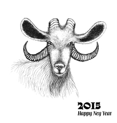 Goat symbol of 2015 New Year vector image vector image