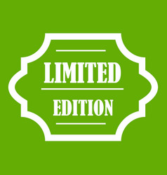 limited edition icon green vector image vector image