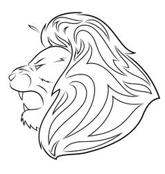 Lion head 5 vector image vector image