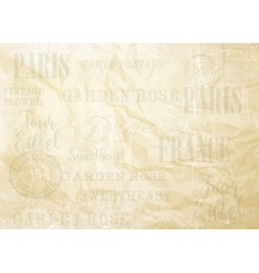 Old paper card vector image vector image
