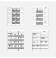 Panel houses linear2 vector image
