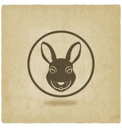 rabbit head symbol vector image vector image