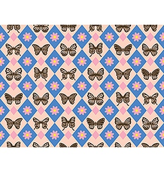 Vintage Butterfly Pattern vector image vector image