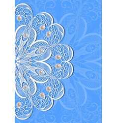 Abstract lacy ornament with pearls vector image
