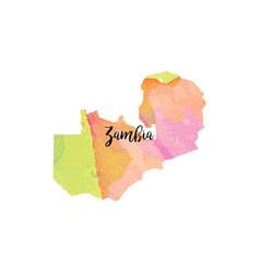 Abstract zambia map vector