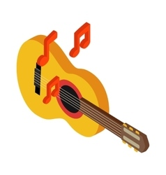 Acoustic guitar icon isometric 3d style vector image