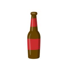 bottle of beer cartoon vector image vector image