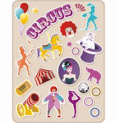 circus stickers vector image vector image