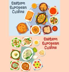 eastern european cuisine icon set for food design vector image vector image