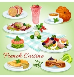 French cuisine icon for restaurant menu design vector image vector image