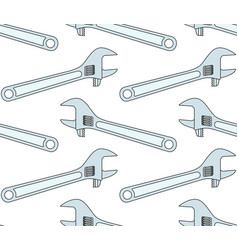 adjustable wrench tool pattern vector image vector image