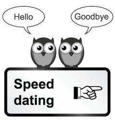 Speed dating vector image vector image