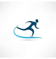 sport on skates icon vector image