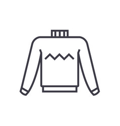 sweater line icon sign on vector image