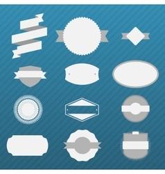 Vintage gray Labels Set on blue Background vector image vector image