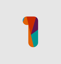 1 diamond font template design vector