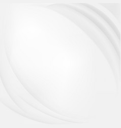 Abstract white wave background vector