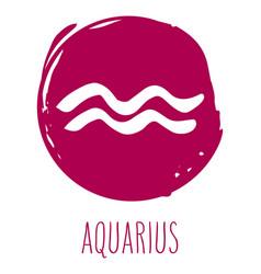 Aquarius hand drawn zodiac sign vector