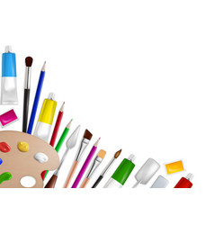 art tools and supplies concept for web vector image