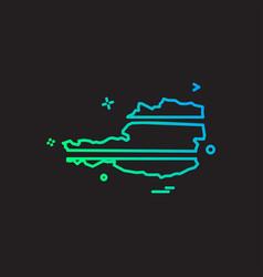 austria map icon design vector image