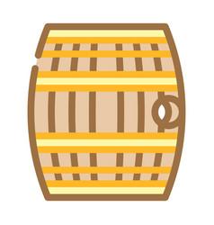 Barrel with gunpowder or rum color icon vector
