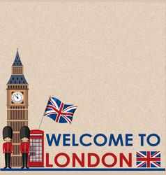 Blank postcard with big ben london vector