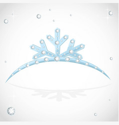 Blue crown tiara snowflakes shaped for christmas vector