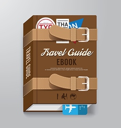 Book CoverTravel Guide Design Template vector image