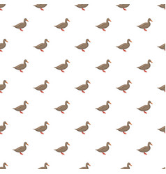 brown duck pattern seamless vector image