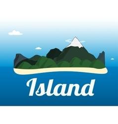 Cartoon of the small tropical island vector