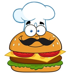 Chef Burger Cartoon vector