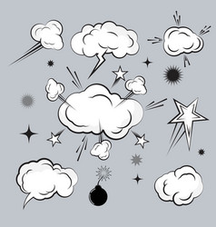 cloud comic book design element vector image
