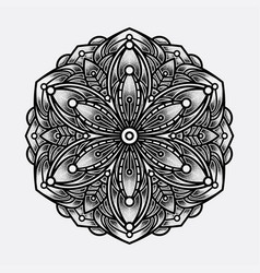 color mandala art lines vector image