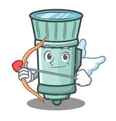 Cupid flashlight cartoon character style vector