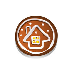cute gingerbread cookies for christmas vector image