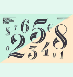 ddbbll numbers font vector image