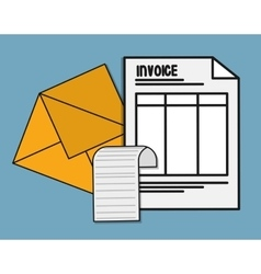 document envelope paper invoice payment icon vector image
