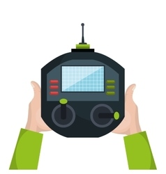 drone control remote isolated icon vector image