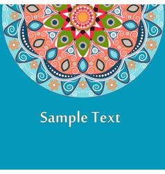Ethnic Colorful Henna Mandala design vector