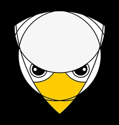 Falcon or eagle head Raptor isolated on black vector