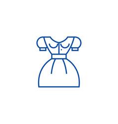 german woman dress line icon concept german woman vector image